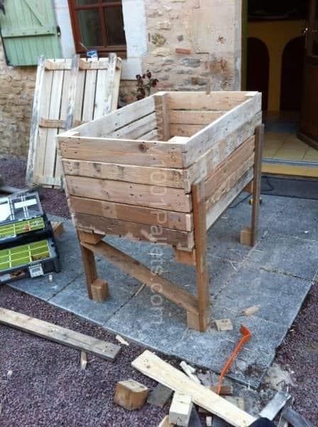 Balcony Pallet Raised Garden Pallet Planters & Compost Bins