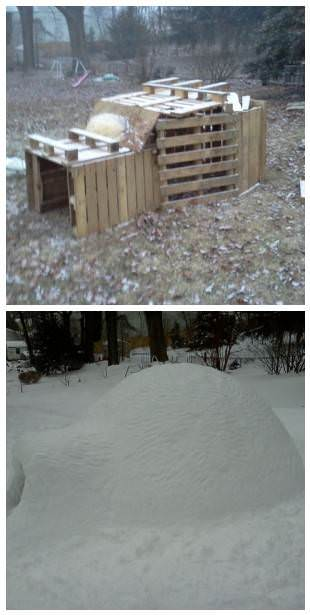 Before/After: Pallet Igloo DIY Pallet Video Tutorials Lounges & Garden Sets