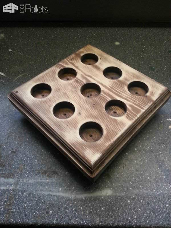 Candles Tray Pallet Candle Holders Pallet Lamps & Lights