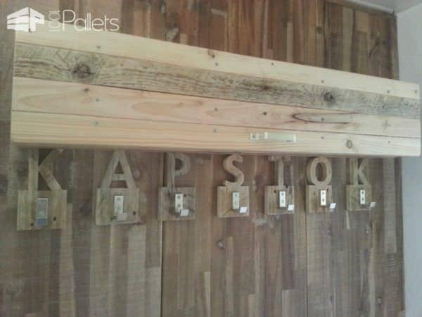 Coat Rack Made from Upcycled Pallet Wood Pallet Shelves & Pallet Coat Hangers
