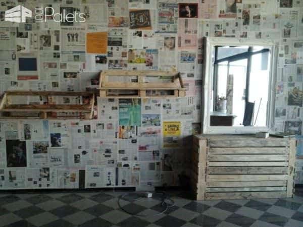 Lampadario Copritermo Tavolo Da Lavoro Mensole / Pallet Furniture Pallet Home Accessories