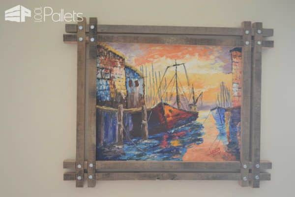 My Uses of Pallets: Unique Picture Frames Pallet Wall Decor & Pallet Painting