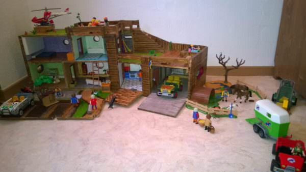 Playmobil House with Pallets Fun Pallet Crafts for Kids