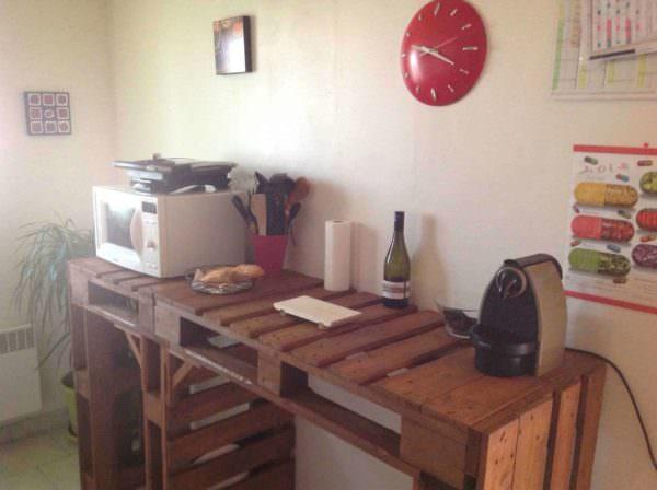 Comptoir De Cuisine / Pallet Kitchen Counter Pallet Bars Pallet Desks & Pallet Tables