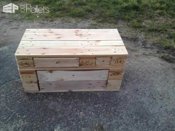 Pallet Benches Feature Storage Drawers Pallet Benches, Pallet Chairs & Stools