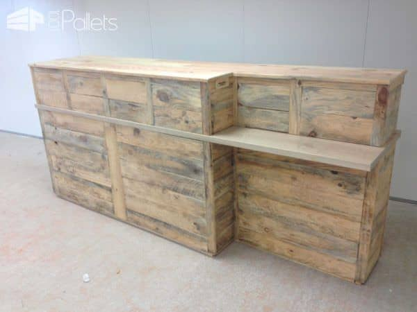 Pallet Reception Counter Pallet Bars