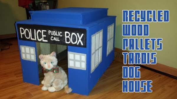 Pallet Tardis Dog House Animal Pallet Houses & Pallet Supplies