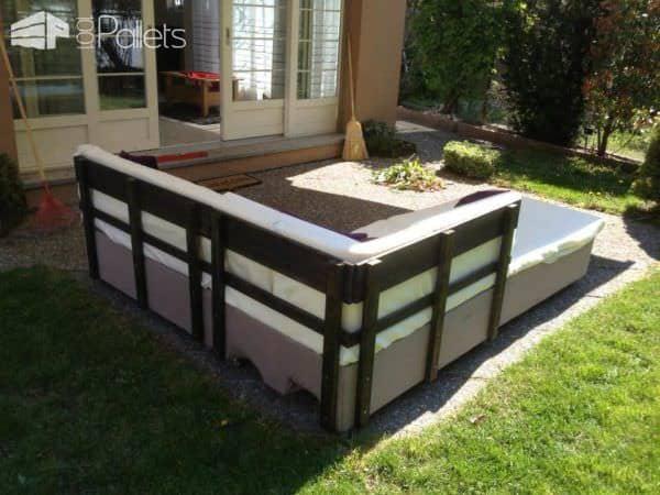 Pallets Garden Couch / Canapé De Jardin En Palettes Euro Lounges & Garden Sets