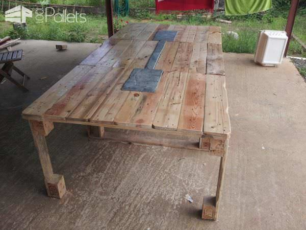 Repurposed Pallet Table Pallet Desks & Pallet Tables