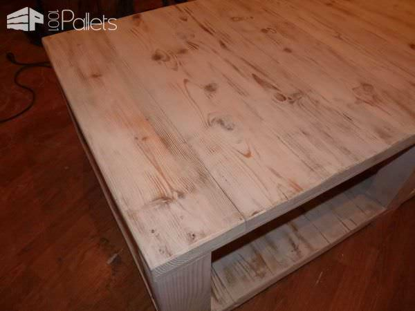 Table Basse Bois De Grosse Palette – Coffee Table Made From Large Upcycled Pallet Wood Pallet Coffee Tables