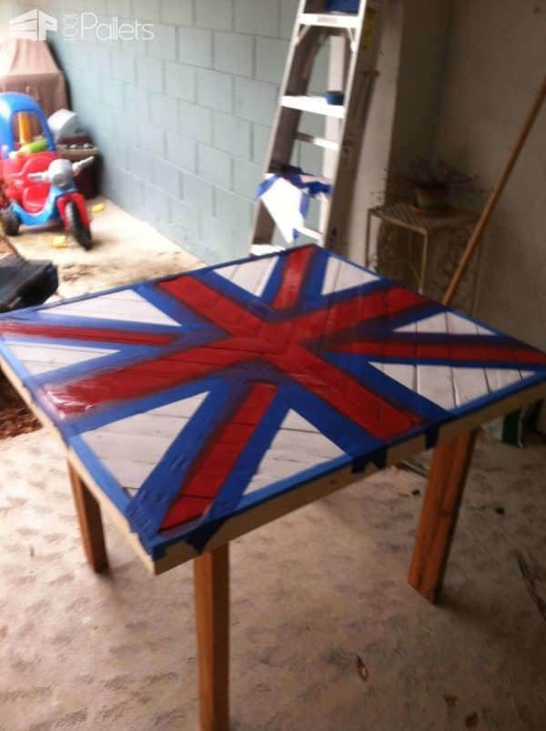 Union Jack Wall Art Pallet Wall Decor & Pallet Painting