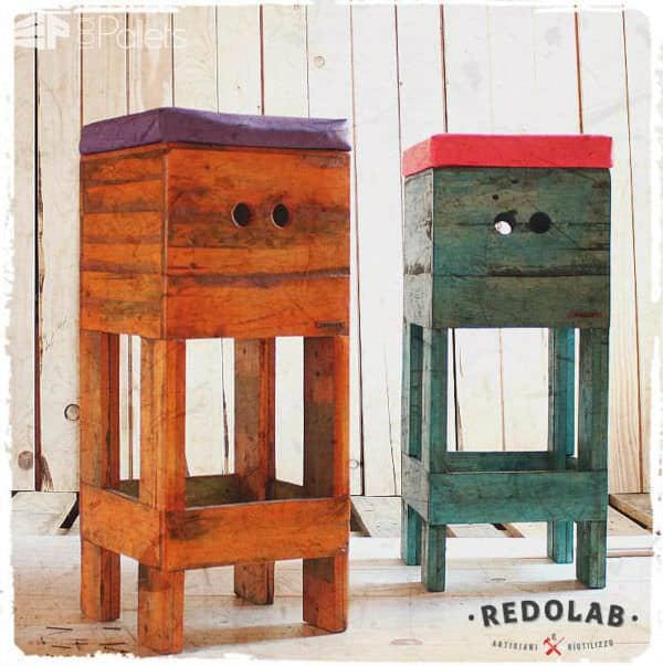 Upcycled Pallet Bar Stools Pallet Benches, Pallet Chairs & Stools