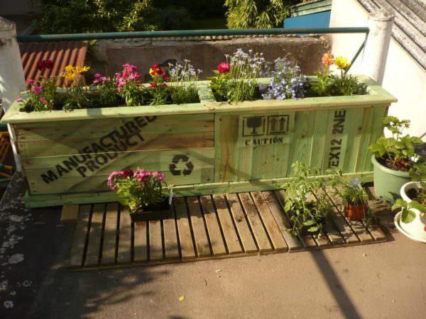 Bac A Fleurs En Palettes Recyclées / Upcycled Pallet Planter Box Pallet Planters & Compost Bins