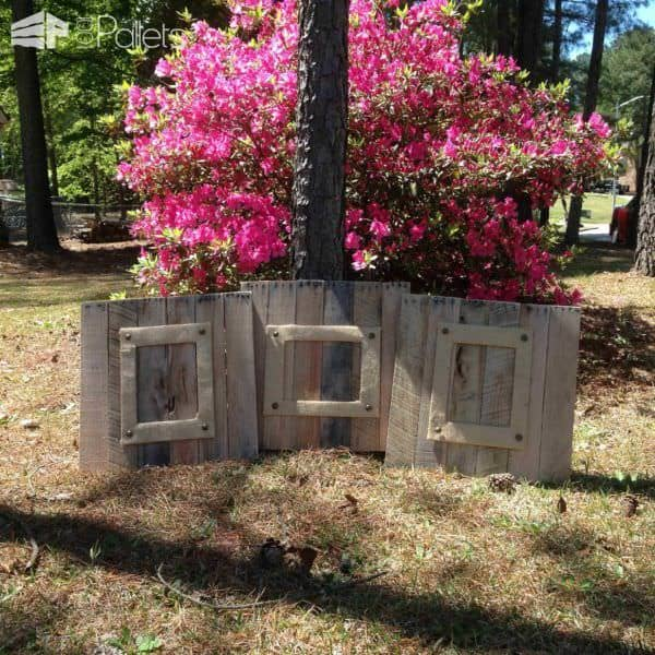 Burlap & Pallet Wood Extra Large Picture Frames Pallet Wall Decor & Pallet Painting