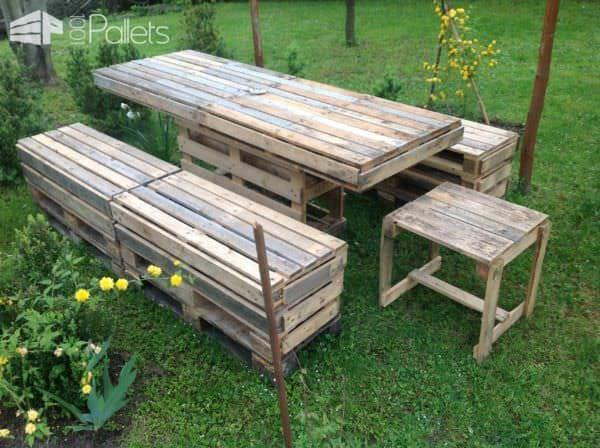 Pallet Garden Table & Bench Lounges & Garden Sets Pallet Benches, Pallet Chairs & Stools Pallet Desks & Pallet Tables
