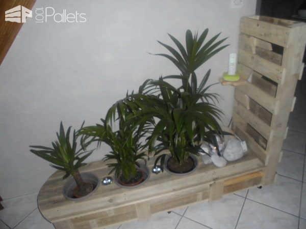 Pallet Indoor Planter With Lights Pallet Planters & Compost Bins
