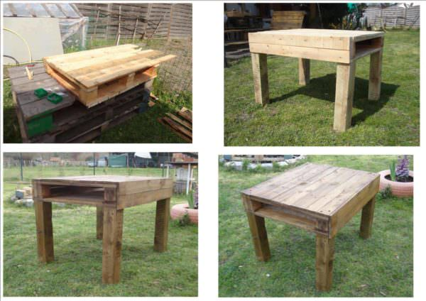 Table From Recycled Pallet Wood Pallet Desks & Pallet Tables