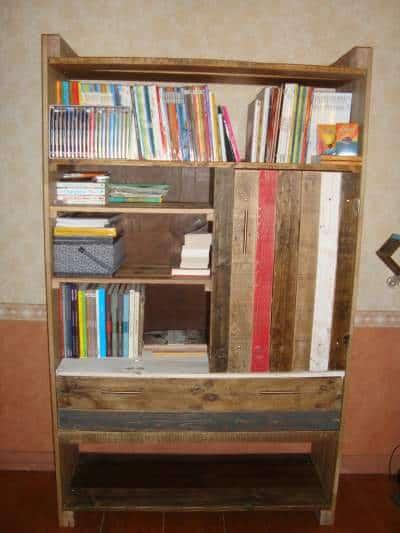 Bibliothèque En Palette / Pallets Bookshelf Pallet Bookcases & Bookshelves