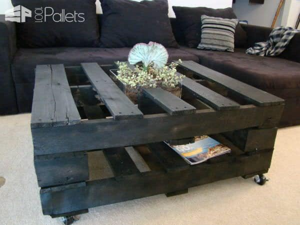 Coffee Table With Inside Planter Pallet Coffee Tables