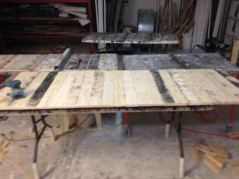 Gorgeous Desk Made Out Of Wooden Pallets & An Old Cabinet Pallet Desks & Pallet Tables