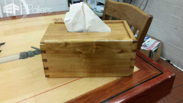 Hand Towels & Napkins Dispenser From One Ash Wood Pallet Pallet Home Accessories