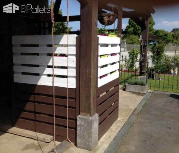 Pallet Wall, Shades & Planter Pallet Planters & Compost Bins Pallet Wall Decor & Pallet Painting