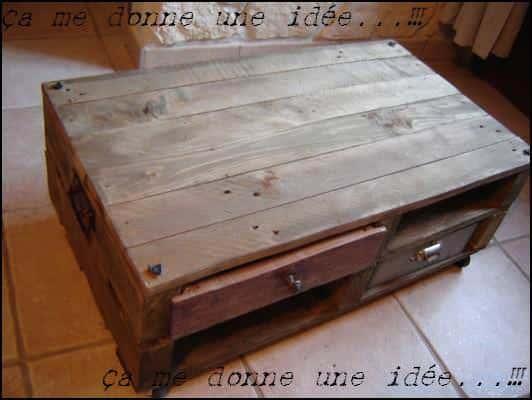 Table Basse En Palette / Pallet Coffee Table Pallet Coffee Tables