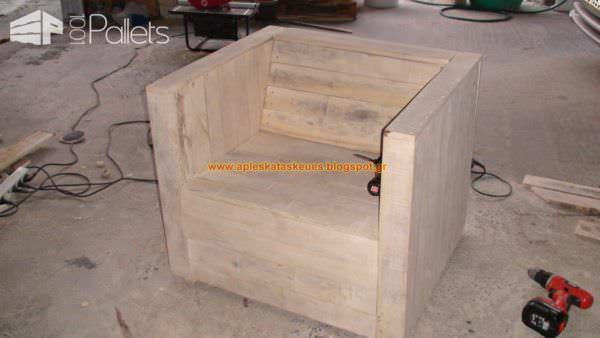 My Pallet Chair (No4) Pallet Benches, Pallet Chairs & Stools