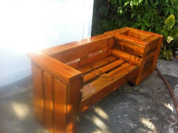 Pallet Combo: Garden Bench & Planter Pallet Benches, Pallet Chairs & Stools Pallet Planters & Compost Bins