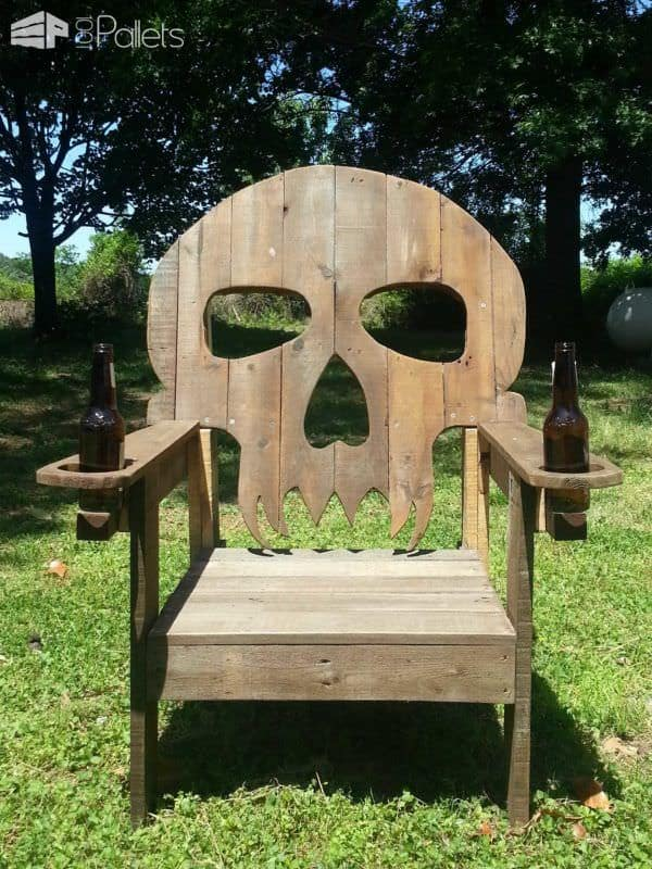 Pallet Skull Chair Pallet Benches, Pallet Chairs & Stools