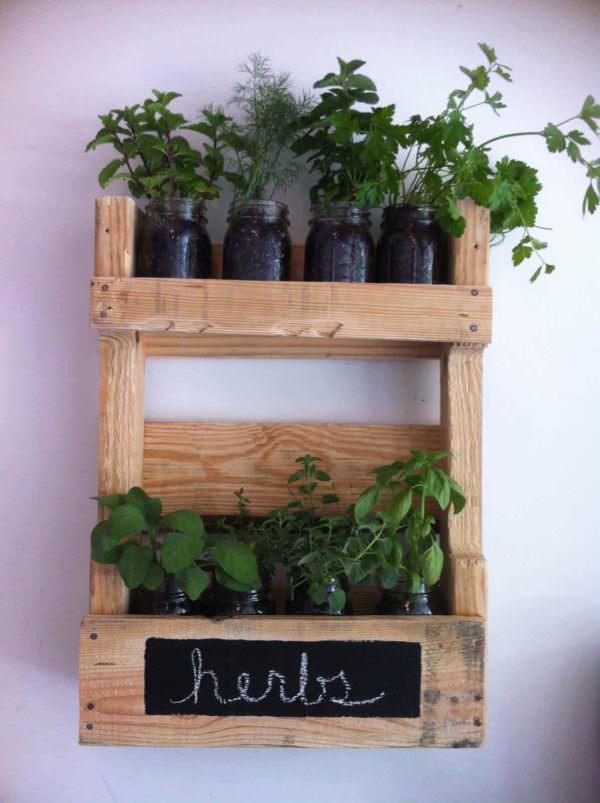 Pallet Wall Herb Garden Pallet Planters & Compost Bins