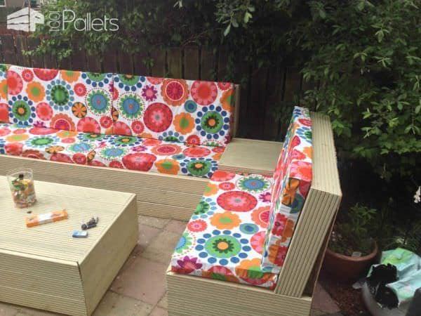 Patio Pallet Furniture Lounges & Garden Sets