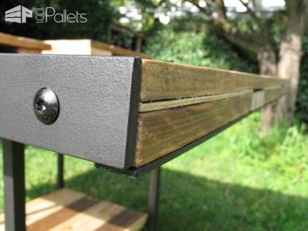 Table De Style Industriel / Industrial Style Pallet Table Pallet Desks & Pallet Tables