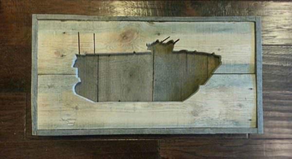 Usmc Amphibious Assault Vehicle Wall Decor From Reclaimed Pallet Pallet Wall Decor & Pallet Painting