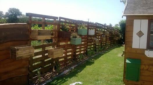 Clôture Et Jardinères En Palettes / Pallets Fence & Planters Pallet Fences Pallet Planters & Compost Bins