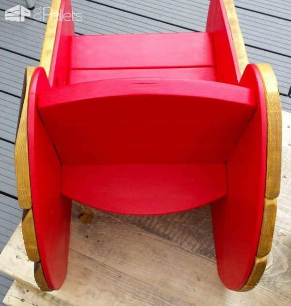Kids Armchairs In The Garden / Fauteuil D'extérieur Pour Enfants Fun Pallet Crafts for Kids Pallet Benches, Pallet Chairs & Stools