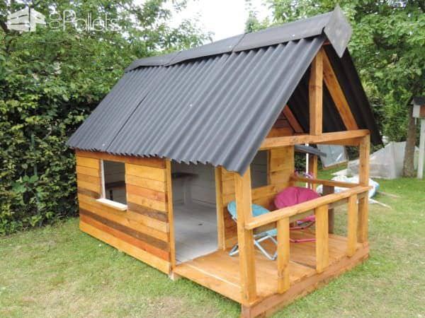 Maison De Jardin Pour Enfant / Pallets Kids House Fun Pallet Crafts for Kids Pallet Sheds, Cabins, Huts & Playhouses
