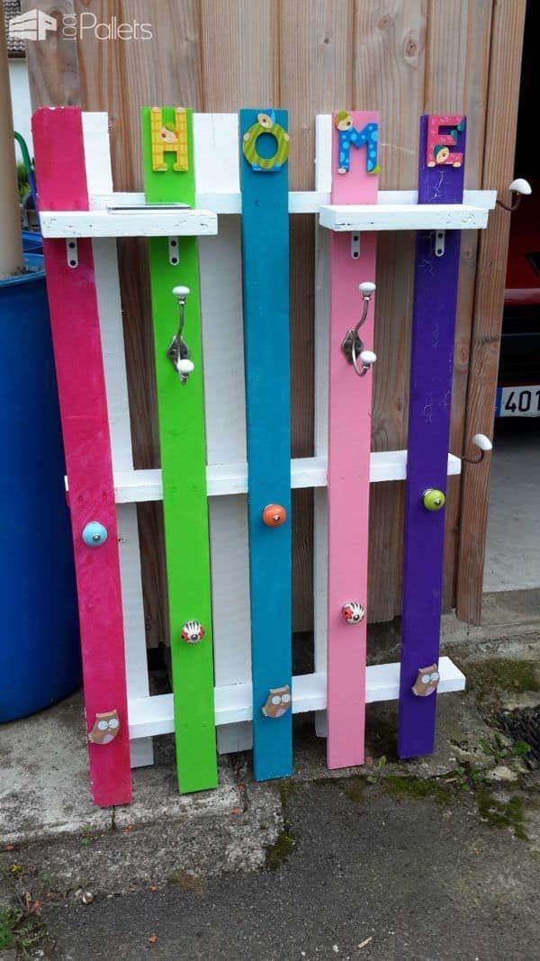 Porte Manteau D'entrée / Pallet Coat Rack Pallet Shelves & Pallet Coat Hangers