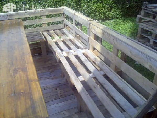 Terrace Deck Made Out Of Repurposed Pallets Pallet Floors & Decks Pallet Terraces & Pallet Patios
