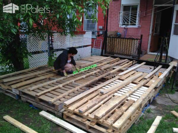 Outdoor Deck Made Out Of Pallets Pallet Terraces & Pallet Patios