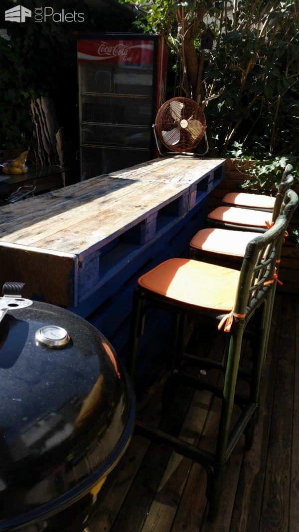 Bar De Jardin / Pallets Garden Bar Pallet Bars