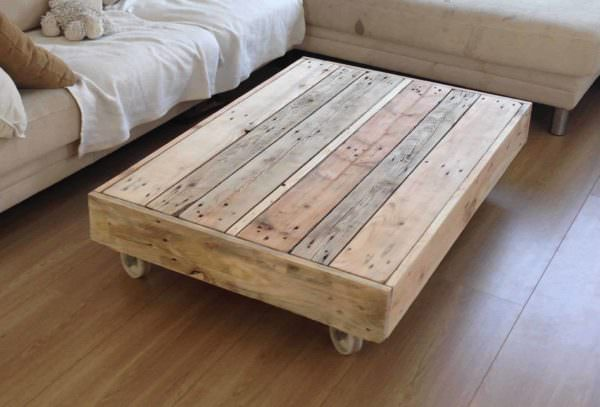 Coffee Table On Wheels Pallet Coffee Tables