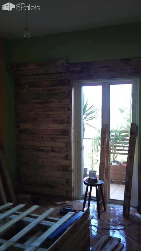 Bedroom Pallet Wall Pallet Walls & Pallet Doors