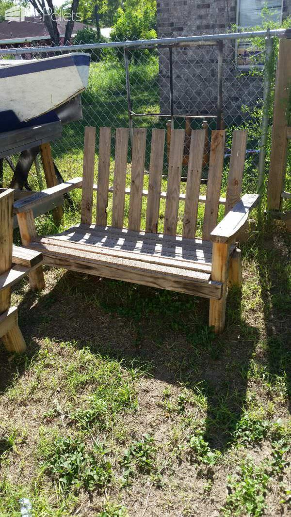 Ideas For Reusing All Sizes Of Pallets Pallet Benches, Pallet Chairs & Stools Pallet Walls & Pallet Doors