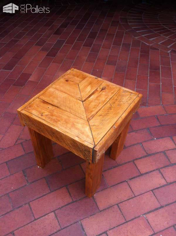 My 1st Attempt With Wooden Pallets: A Side Table Pallet Coffee Tables