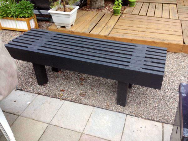 Pallet Park Bench / Banc De Parc Pallet Benches, Pallet Chairs & Stools