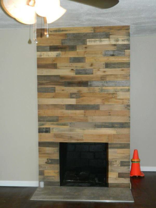 Pallet Wood Fireplace Wall Pallet Wall Decor & Pallet Painting