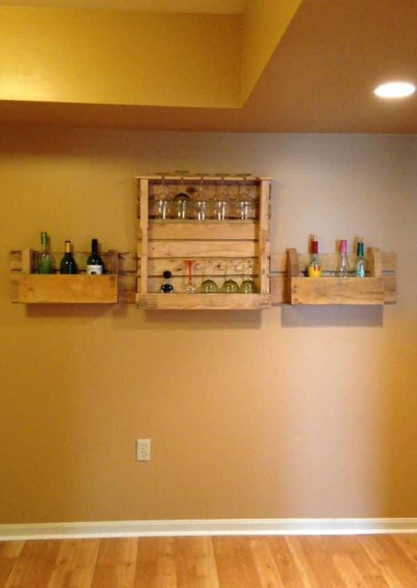 Pallets Wine Rack Pallet Shelves & Pallet Coat Hangers