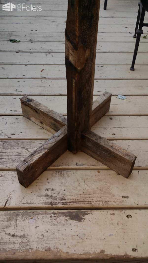Portable Hose Hanger From Hose Mount & Pallet Wood Pallets in the Garden