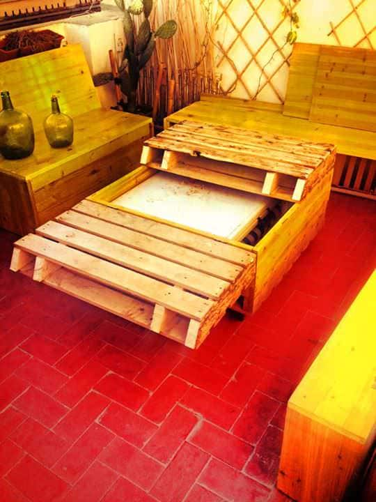 Recycled Pallet Into Table Pallet Coffee Tables